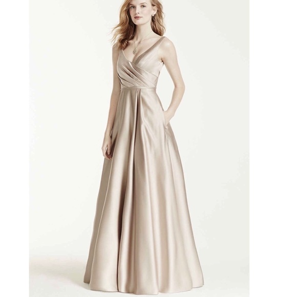 David\'s Bridal Dresses | Champagne Promformalbridesmaid Evening Gown ...